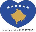 kosovo flag  heart vector ...   Shutterstock .eps vector #1289597935