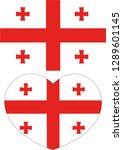 georgia flag  heart vector ...   Shutterstock .eps vector #1289601145