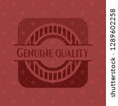 genuine quality badge with red... | Shutterstock .eps vector #1289602258
