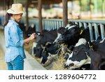 farmer have recording details... | Shutterstock . vector #1289604772