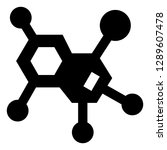 chemical compound vector icon | Shutterstock .eps vector #1289607478