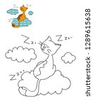 coloring page outline of... | Shutterstock .eps vector #1289615638
