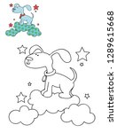 coloring page outline of... | Shutterstock .eps vector #1289615668