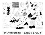 unique trendy artistic...   Shutterstock .eps vector #1289617075