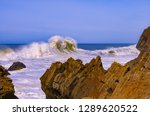 landscape raging surf near the... | Shutterstock . vector #1289620522