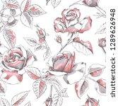 seamless floral pattern. light... | Shutterstock .eps vector #1289626948