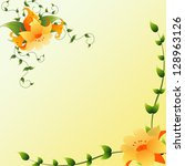 card with with floral elements. | Shutterstock . vector #128963126