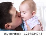 baby with dad. family ... | Shutterstock . vector #1289634745
