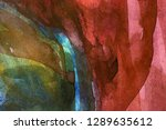 abstract watercolor painted... | Shutterstock . vector #1289635612