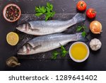 fresh fish with  ingredients... | Shutterstock . vector #1289641402
