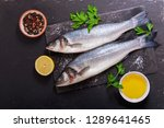 fresh fish with  ingredients... | Shutterstock . vector #1289641465