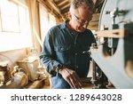 senior male carpenter working... | Shutterstock . vector #1289643028