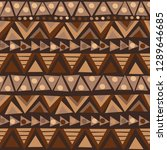 doodle african pattern with...   Shutterstock .eps vector #1289646685
