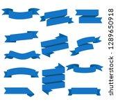 blue web ribbons set white... | Shutterstock .eps vector #1289650918