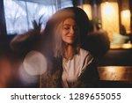 attractive blonde woman rest in ...   Shutterstock . vector #1289655055