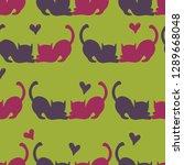 seamless vector pattern... | Shutterstock .eps vector #1289668048