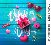 valentine's day poster with... | Shutterstock .eps vector #1289676922