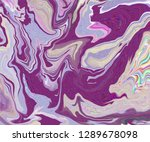 purple and pink marble painting ... | Shutterstock . vector #1289678098
