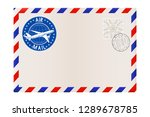 blank envelope with stamp and... | Shutterstock . vector #1289678785