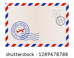 blank envelope with stamp and... | Shutterstock . vector #1289678788
