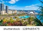Landscape with Santa Cruz, capital of Tenerife, Canary island, Spain