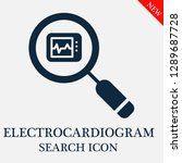 electrocardiogram search icon.... | Shutterstock .eps vector #1289687728