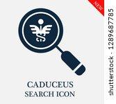 caduceus search icon. editable...   Shutterstock .eps vector #1289687785