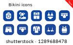 bikini icon set. 10 filled... | Shutterstock .eps vector #1289688478