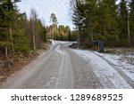 winding gravel road with mail... | Shutterstock . vector #1289689525