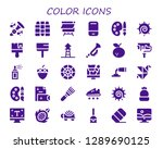 color icon set. 30 filled... | Shutterstock .eps vector #1289690125