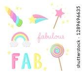 fabulous  sparkling  magic ...   Shutterstock .eps vector #1289696635
