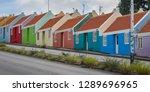 the old huses of scharloo ... | Shutterstock . vector #1289696965