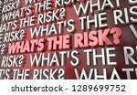 whats the risk potential...   Shutterstock . vector #1289699752