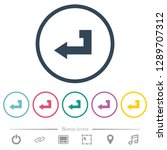 return key flat color icons in... | Shutterstock .eps vector #1289707312