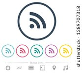 radio signal flat color icons... | Shutterstock .eps vector #1289707318