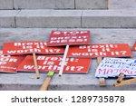 london  uk. jan 17 2019. anti... | Shutterstock . vector #1289735878