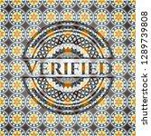 verified arabesque badge.... | Shutterstock .eps vector #1289739808