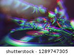 dj party poster.glitched... | Shutterstock . vector #1289747305