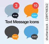 text message bubble icons ui...
