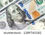 dollars bills background. close ...   Shutterstock . vector #1289765182