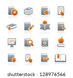 book icons    graphite series | Shutterstock .eps vector #128976566