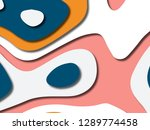 3d abstract background with... | Shutterstock . vector #1289774458