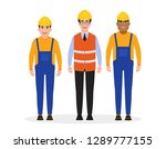 male dressed in work clothes... | Shutterstock .eps vector #1289777155