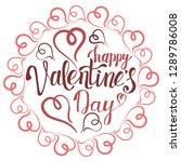 valentine's day lettering.... | Shutterstock .eps vector #1289786008