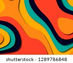 3d abstract background with... | Shutterstock . vector #1289786848