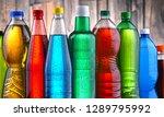 plastic bottles of assorted... | Shutterstock . vector #1289795992