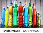 plastic bottles of assorted... | Shutterstock . vector #1289796028