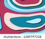 3d abstract background with... | Shutterstock . vector #1289797228