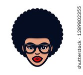 funky woman in glasses with... | Shutterstock .eps vector #1289802355