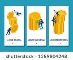 isometric template app business ...   Shutterstock .eps vector #1289804248